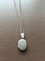 Italian Silver Locket and Necklace