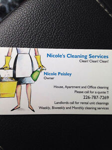 NICOLE AND ASHLEYS CLEANING SERVICE