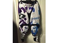 ONO industries motor cross pants. MTB downhill biking