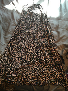 Cheetah long skirt