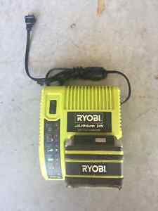 Ryobi Lithium 24V battery and charger