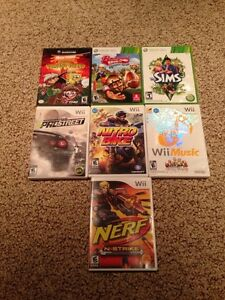Wii, Xbox 360, and GameCube games