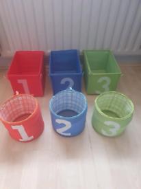 Ikea 1,2,3 children's storage baskets