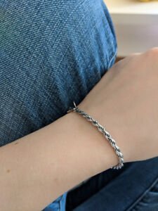 Sterling silver bracelet with charm