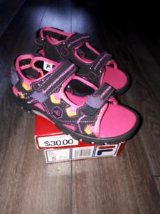 Girls Fila Sandals Brand New 5