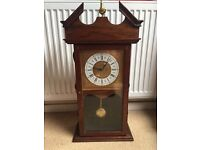 Large Table Top Vintage Wooden Pendulum Clock