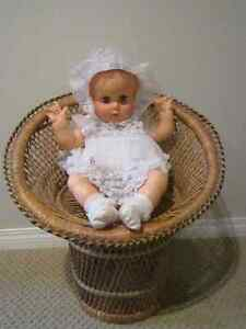 Vintage Large 21'' Tall Woven Wicker Doll Chair Regina Regina Area image 5