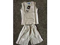 Adidas kids short and tshirt set