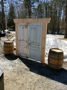 Rustic wedding rental...wine barrels