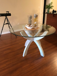 Round Glass 4 Person Dining Table