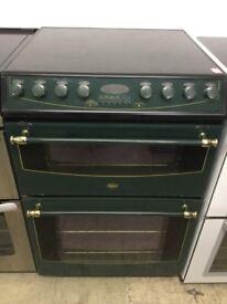 Belling dark green electric Cooker 60cm wide ceramic hobs