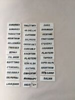Apothecary Labelling Tiles