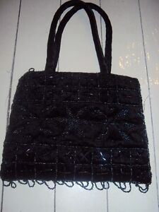 Brand new black beaded hand bag for dressy occassion