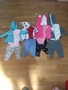 4 Carters Size 3. 3 Piece outfits