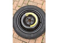 Spare tyre and jack