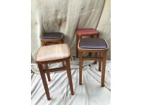 Retro vintage original 1960s kitchen stools