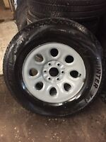 Winter tires and rims 6 bolt gm 265/70/17 tires