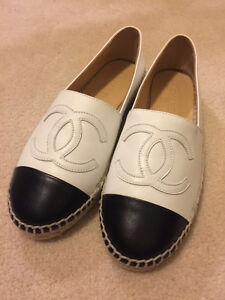 Authentic white leather Chanel espadrilles Size 37