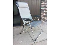 Camping recliner chairs x 3 lafuma
