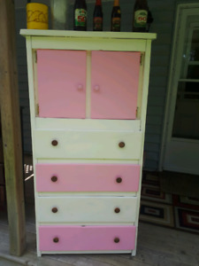 Old solid wood dresser