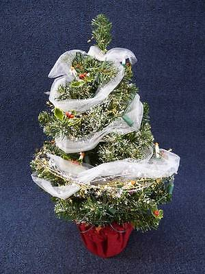 "Byers Choice Mrs Claus LIGHTED Christmas Tree 18.5"" tall  NEW (b852)"