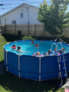 15 ft Round Intex Pool for sale!