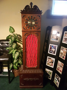 Vintage Grandfather clock with record player