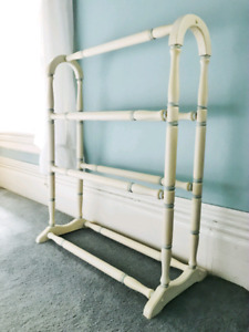 Hand painted blanket rack