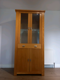 Glass wooden display cabinet