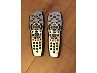 2 x Sky remote controls