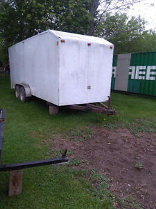 Covered race car trailer or whatever you want it for