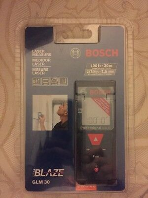 Bosch Glm 30 100ft Laser Measure New