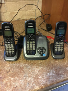 3 cordless phones with answering machine