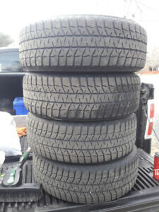 205/60/16 Bridgestone Blizzaks on Steel Rims (5x114.3)