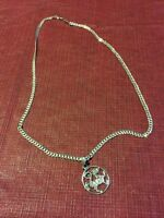 10 karat white gold chain with pendent