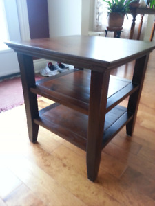 solid wood modern end table
