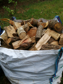 JUMBO BAG FIREWOOD HARDWOOD 2 YEARS SEASONED SPLIT LOGS £60