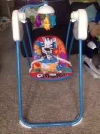 Baby swing seat. rocker