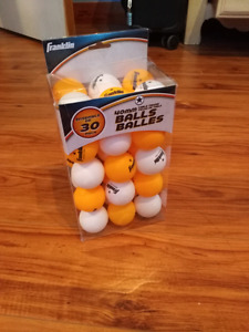 30 Ping pong balls