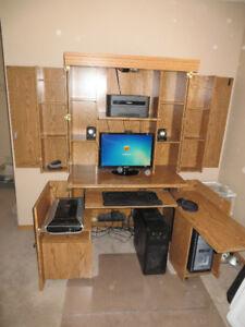 Sauder Computer Desk closes into Armoire