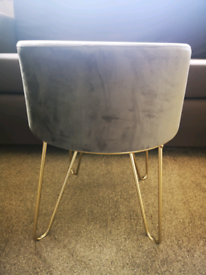 NEW Grey and gold footstool