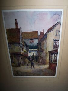 EARLY 20TH CENTURY STREET SCENE LITHOGRAPH BY RHYE JENKINS