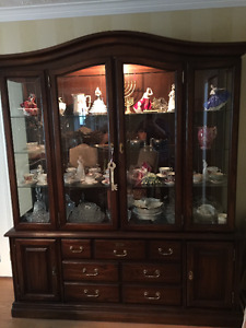 Imperial Furniture China Cabinet - Maple Oak Collection