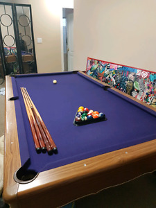 Crown royal slate pool table
