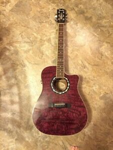 Fender T Bucket Burgandy Colour Acoustic Guitar St. John's Newfoundland image 1