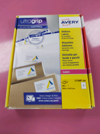 Brand New Avery A4 Address Labels 250 Sheets Per Pk. x3 Pks available