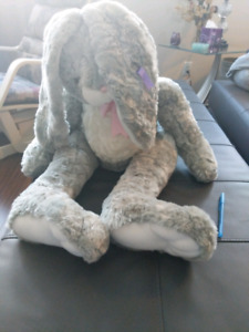 "Lapin en peluche 30"" de collection MILLENNIUM 2000 RARE 30"""