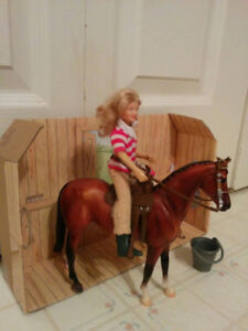 Breyer Western horse with foal and rider, $15