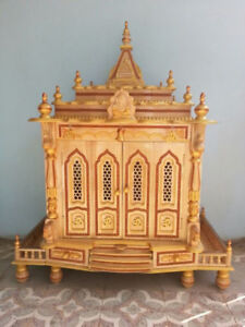 Hand-made wooden temple alter shrine