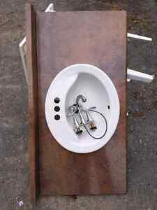 "43 1/4""  vanity top with sink and faucet Belleville Belleville Area image 2"